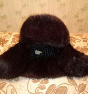 Шапка-ушанка мужская норковая