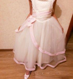 Платье на девочку 👗⚘+ туфельки👠