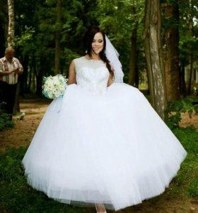 Свадебное платье, белое платье.