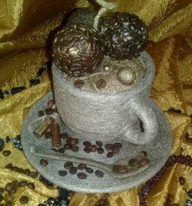 Интерьерная кофейная композиция