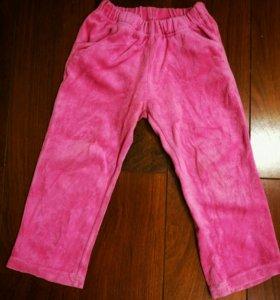 Брюки розовые вельветовые 104 см
