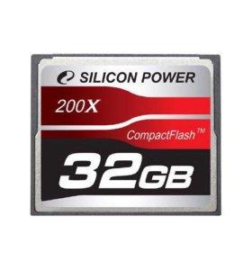 Карта памяти Compact Flash 32Gb Silicon Power 200x