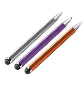 Стилус - ручка Deppa Duo Pen серый