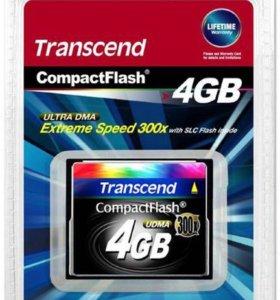 Карта памяти Transcend Compact Flash 4GB 300x
