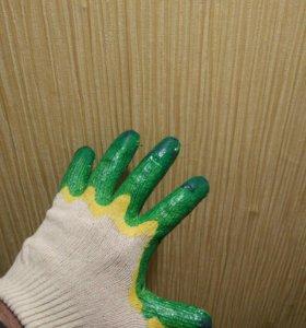 Перчатки рабочие двойной облив