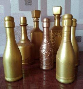 Декор бутылочек