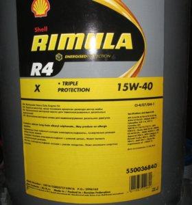 Масло моторное. Shell RIMULA R4 15W40