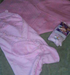 Вязвный плед, полотенце, пеленка