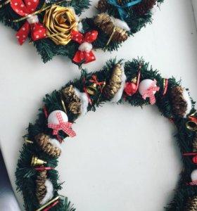 Веночки новогодние