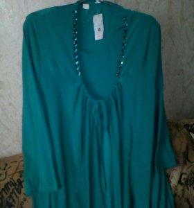 Блузка с топиком новые