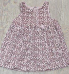 Велюровое платье crockid р. 74