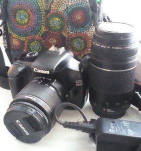 Canon 1100D+объектив 75-300mm.