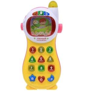 Развивающий детский музыкальный телефон кнопочный