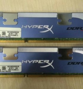 DDR 3, 2×2Gb Kingston KHX1600C9AD3K2/4G