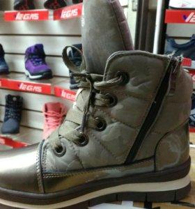 Зимнии ботинки на меху. Тимберленды