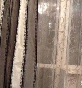 Комплект тюль+шторы