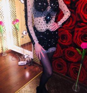 Платье в стразах, в стиле javani )