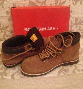Ботинки Mountain ASH коричневые замшевые
