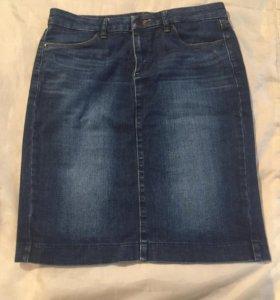 Юбка джинсовая uniqlo