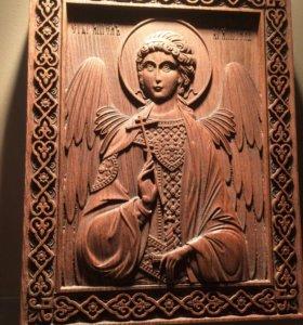 Икона резная «Ангел хранитель»