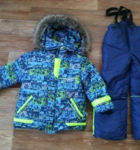 Зимний комплект куртка+штаны рост 110-116