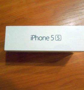 Коробка от iPhone 5S silver