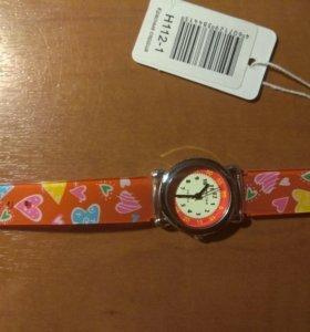 Детские наручные часы тик-так н112-1 кр сердца