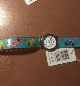Детские наручные часы тик-так н112-1 бирюз машинки