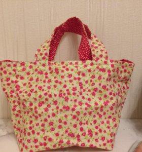 Текстильная сумочка для косметики