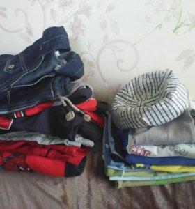Пакет одежды на мальчика 5-7 лет.Обувь 28 размер.