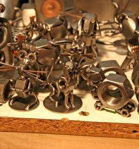 Сувениры из болтов и гаек