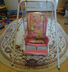 Детский столик-качель-качалка
