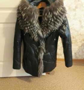 Куртка зимняя/ натуральная кожа