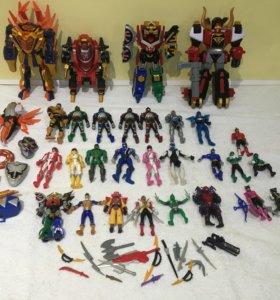 Рейнджеры большая коллекция игрушки Bandai