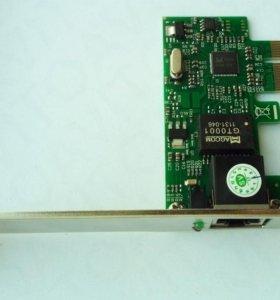 Сетевая карта, разъем PCI-Ex1. 1000 Mb/s