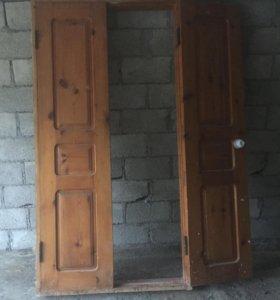 Продам 2 двери межкомнатные двухстворчатые