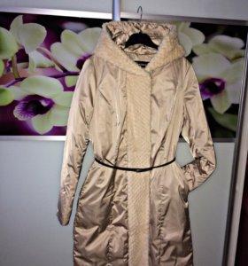 Зимний пуховик- пальто
