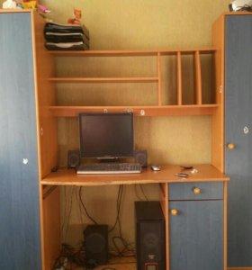 Стенка для компьютера и вещей