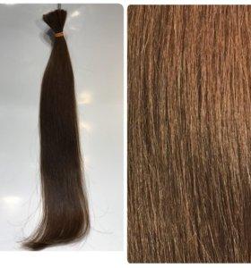 Волосы натуральные. Срез. 55см.95гр.