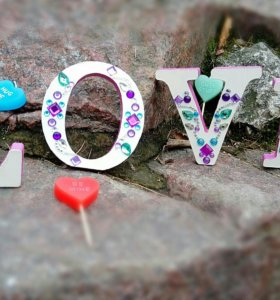 Декоративные буквы LOVE
