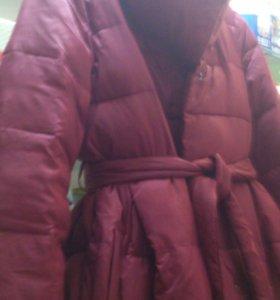 Пальто модное юбочкой б/у очень мягкое
