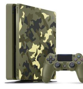 PS4 1TB Slim Limited Edition CoD WWII, новая