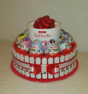 Торт из киндер и конфет