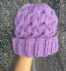 Зимняя шапка, ручная работы