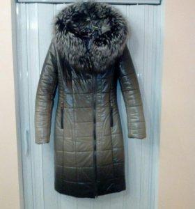 Пальто из ЭКО кожи