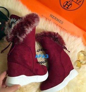 Зимняя обувь замша