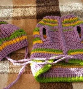 Комплект свитер+шапка
