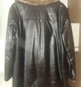 Кожанная меховая куртка