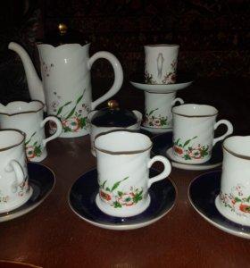 Кофейный сервиз 6 п. Кобалт Freiberger Porzellan