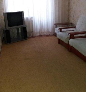 Кресло, диван и пуфик